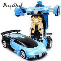 robô motor rc venda por atacado-Atacado 1:12 Escala 2-em-1 Sensor de Gesto RC Racing Car Transformando Robô Crianças Brinquedo De Controle Remoto Presente de Aniversário