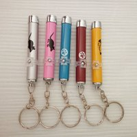 caneta de imagem venda por atacado-Dhl imagem do mouse caneta chaveiro com branco LED show de luzes portátil infravermelho vara gatos engraçados pet toys atacado a02
