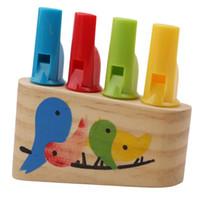 düdük çalgı toptan satış-Çocuk Gökkuşağı Flüt Çocuk Flüt Düdük Oyuncak Bebek Müzik Çalmak Ahşap Enstrüman Çocuk Ahşap Oyuncak