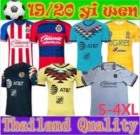 camisas talla xl al por mayor-LIGA MX tamaño 4XL-S 2019 2020 Club América Fútbol Inicio Away UNAM Guadalajara Chivas kit Jersey 19 20 Tigres UANL las camisas del fútbol
