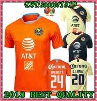 uniformes de futbol mexico al por mayor-2019 Club de Futbol América casa Fútbol Jersey 18 19 Club de Futbol América camiseta de fútbol personalizada México uniforme de fútbol del club Ventas