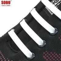 cordones elásticos para zapatillas de running. al por mayor-SOBU 12Pcs / Lot Correr elástico de silicona cordones de los zapatos Toda la zapatilla de deporte n lazo del silicón del zapato Cordones Cordones Para creativo