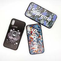 entwerfen von handy fällen großhandel-Für iphone xs max phone cases einfache muster marke design tier tarnung tpu pc handy case für iphone 6 7 8 plus