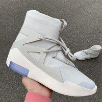 zapatillas de tamaño mixto al por mayor-NUEVO Aire Fear of God 1 BOOTS 3M high Wave runner hombres mujeres zapatillas de deporte de diseño zapatillas de mezcla tamaño 40-45