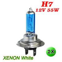 2X H7 55W Car Halogen Headlight Bulbs Car Light Bulb HeadLamp Car Front Lights Warm White 6300K DC12V Super Bright High Brightness