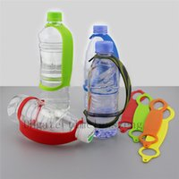 держатели для бутылочек оптовых-Переносная ручка для бутылок, ручка для посуды, туристический крючок, клипса на мягком силиконовом ремне