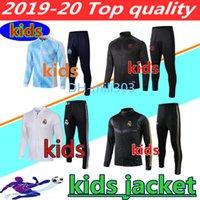 çocuk ceketi toptan satış-2019 2020 Real Madrid çocuklar uzun fermuar ceket 19 20 Paris MBAPPE OM Marsilya KIDS BOYS futbol ceket eşofman chándal eşofman