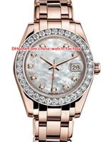 senhoras relógios mecânicos venda por atacado-12 estilo topselling de alta qualidade 31mm 36mm pearlmaster datejust 81298 diamante safira asia mecânico automático ladies watch mulheres relógios