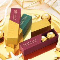 Wholesale wedding chocolate gifts for guests resale online - Chocolate Candy Box Lipstick Boxes Wedding Favor and Gifts Packaging a Gift for Guests