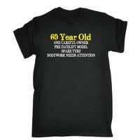 a94fb31f2 Wholesale grandma gifts resale online - 60 Year Old One Careful Owner T  SHIRT Joke Grandad