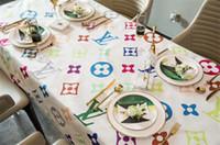 ingrosso tabella s-Tovaglia della lettera di lusso S + L di progettazione per la vendita calda decorativa della Tabella 140 * 140cm - 140 * 200cm tovaglia di rettangolo