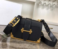 Wholesale genuine leather totes resale online - Newset Chain Shoulder Bags cm Insert buckle Purse Square Handbags Genuine Leather Women Clutch Messenger Bag Crossbody Totes