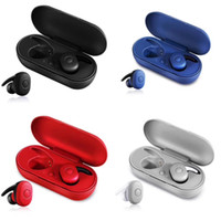 Wholesale wireless mini earphones for mobile resale online - Fashion RED Portable DT TWS Wireless Mini Bluetooth Earphone Mobile Stereo Earbud DT1 Sport Ear Phone pk i10 W1 H1 i100