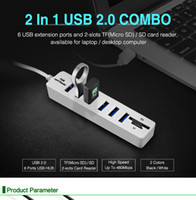 Wholesale accessories pc usb resale online - USB Hub Multi USB Hub USB Splitter High Speed Ports Hab TF SD Card Reader All In One For PC Computer Accessories