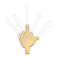 ahşap tutacaklar toptan satış-Prim Wood Seviye Beş 5 Ortak Tutucu Sigara Rolling Koni Sigara Boru Tutucu 8 MM King Size Rolling Papers Palmiye Ahşap Tütün Borular