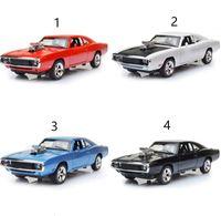 ingrosso caricabatteria dell'automobile-MINI AUTO 1:32 Dodge Charger I modelli di auto in lega Fast And The Furious giocattoli per bambini Classic Metal Cars L