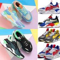 mavi sistemler toptan satış-Erkekler Kadınlar RS-X Yeniden Teşvik Koşu Sistemi Beyaz Siyah Mavi Kırmızı Sarı Ayakkabı Atletik Moda Sneakers Koşu Spor Ayakkabı
