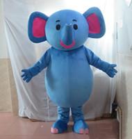 traje de elefante azul venda por atacado-2018 Discount fábrica venda azul gordura elefante mascote traje terno para adultos for sale