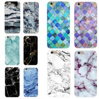 Wholesale marble iphone case online – custom Glossy Marble Case For iPhone X Stone Image Pattern Cases Soft IMD Silicon Back Cover For iPhoneX S Plus