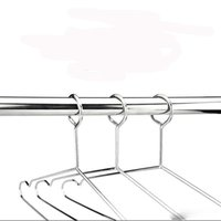 Wholesale anti theft hook for sale - Group buy 42 cm Outdoor Indoor Metal Clothes Hanger Windproof Anti skid with Security Hook Stainless Steel rack for Hotel Used Anti theft
