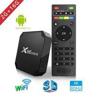 бесплатная доставка tv box оптовых-X96 Mini Smart Android 7.1 TV Box 2 ГБ 16 ГБ x96 против MXQ Pro Amlogic S905w Бесплатная доставка DHL Медиа-плеер для IPTV