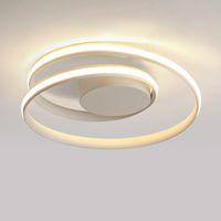 ingrosso luci a soffitto-Minimalismo moderno plafoniere a LED nero / bianco plafoniera in alluminio soggiorno camera da letto lamparas de techo colgante moderno