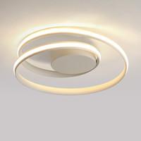 ingrosso moderna lampada da soffitto bianca-Plafoniere moderne a LED minimaliste lampada da soffitto in alluminio bianco / nero soggiorno camera da letto lamparas de techo colgante moderno