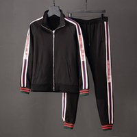 Wholesale sport suit casual clothes jacket resale online - Luxury Men s Tracksuit Jackets Set Fashion Running Tracksuits Medusa Men Sports Suit Letter print Hoodies Clothing Sportswear