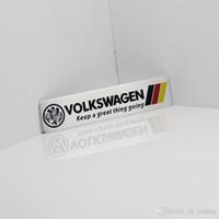 Wholesale vw racing stickers resale online - Germany National flag Racing Car Sticker Fit For Volkswagen Vw Plol Golf Metal R Badge Motorsport Car Thin metal aluminum Emblem