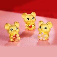 ingrosso piccoli topi-2020 caldo di vendita oro sveglio Little Mouse bracciali per donne degli uomini di Capodanno gioielli di moda della corda rossa braccialetto del ragazzo della ragazza Regalo di compleanno