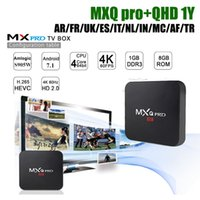 сми коробка арабский тв оптовых-MXQ PRO Smart TV Box Amlgoic S905W Android 7.1 TV BOX С 1Year гарантия Quad-Core 4K Wifi арабский франция m3u Media Player