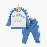 Wholesale newborn sports clothes resale online - baby tracksuit newborn sweat suit boys tracksuit girls sport suit baby clothes baby infant boy designer clothes retail A7795