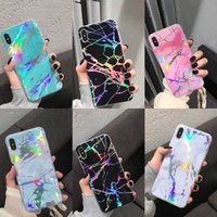 Wholesale plastic pc protector for sale – best IMD Marble Phone Case Laser Painted Smooth Back Cover Fashion Rhombus TPU PC Protector for iPhone X Xs XR Xs max s p plus