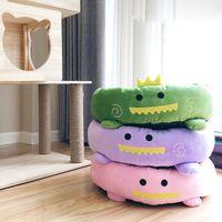 muebles de calidad al por mayor-Otoño Invierno Cálida Cama para Mascotas INS Cartoon Cat Cat Furniture Soft Top Quality Kennel Bed Pet Furniture