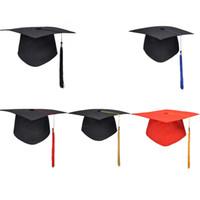 ingrosso cappelli del medico-Festa di laurea della scuola Tassels Cap Mortarboard University Bachelors Master Doctor Hat accademico