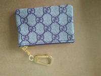 kadın deri fermuarlı cüzdanlar toptan satış-Yüksek Kalite Yeni 6 Renkler Anahtar Kılıfı Zip Cüzdan Sikke Deri Cüzdan Kadınlar Lüks Anahtar Tutucu Coin Purse Küçük Coin Çantalar