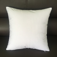 20x20 inches white canvas pillow case 100% cotton blank white pillow cover bleached white throw cushion cover for DIY paint