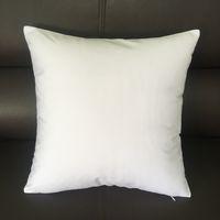 diy werfen kissenbezüge großhandel-20x20 Zoll weiße Leinwand Kissenbezug 100% Baumwolle leere weiße Kissenbezug gebleicht weiß Wurf Kissenbezug für DIY Farbe