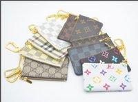 Wholesale animals key cap for sale - Group buy Wholesales Special colors Key Pouch Zip Wallet Coin Leather Wallets Women brand purse without dust bag