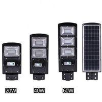 led sokak ışık direği toptan satış-Yeni led güneş sokak ışık 20 w 40 w 60 w pir motion sensörü işık kontrolü ile IP67 Su Geçirmez Güneş dış Duvar Işık Montaj Direği