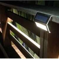 controlador led ip66 al por mayor-Luz solar de pared LED Acero inoxidable Jardín al aire libre Pared Paisaje Jardín Solar Impermeable integrado ecológico