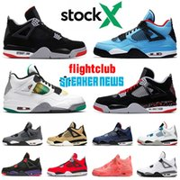 el baloncesto más caliente al por mayor-nike air jordan 4 Jumpman 4 Lucid Green Rasta 4s IV Men Basketball Shoes OVO Splatter New Bred Travis Scott FIBA What The Hot Punch Luxury Sneakers