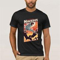 camisa de algodón negro de kung fu al por mayor-Ninjesus carácter divertido camiseta de los hombres 3D Tops Tee Shirts Jesús Negro camiseta del algodón del verano ropa de Kung Fu Camiseta