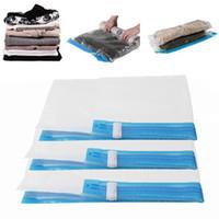 Wholesale travelling vacuum bags for sale - Group buy Vacuum Storage Rangement Bag Save Bags Vac Saver Seal Compressed Bag Clothes Wardrobe Travel Organizer Size