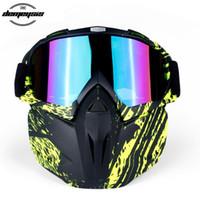 мужские лыжные очки оптовых-Men Women Ski Goggles Snowboard Snowmobile Goggles Mask Snow Winter Skiing Ski Glasses Motocross Sunglasses