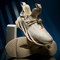 chaussures de course à ressort achat en gros de-Mlcriyg Pop Blade Running Chaussures Homme Coréen Cool Printemps Chaussure Amortisseur Léger Antidérapant Respirant Chaussure De Sport Zapatos Noir