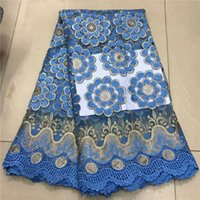 Wholesale lace net fabric for sale for sale - Group buy Hot sale flower embroidery French net lace fabric latest tulle lace cloth with rhinestones for dress ZQN193 yards