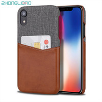 Wholesale iphone apple soft leather cases online – custom Wallet Case for IPhone pro X Xs Max XR s Plus Soft Fabric PU Card Leather Case Credit Card