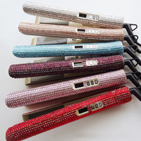 rizos planos al por mayor-Taurus 105 crystal iron iron sparkle 2 en 1 bling Diamond MCH Planchas para el cabello alisadoras alisadoras profesionales Herramientas de peinado