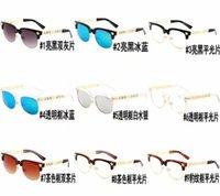 gafas de sol de varios colores al por mayor-2019 Verano Nueva Europa y EE. UU. Gafas de sol de moda masculina femenina deslumbran gafas de sol enmarcadas de color al por mayor Envío gratuito